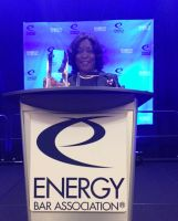 October 6, 2016 People's Counsel Sandra Mattavous-Frye receives State Regulatory Practitioner Award from the Energy Bar Association