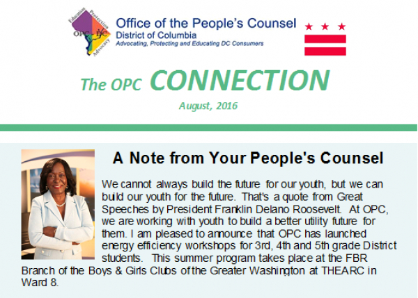 The OPC CONNECTION - August, 2016