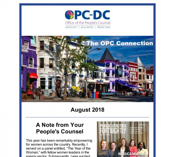 The OPC CONNECTION - August 2018