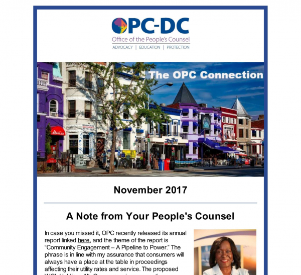 The OPC CONNECTION - November 2017
